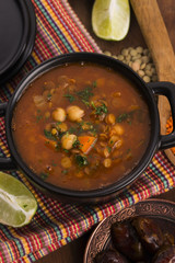 Moroccan traditional soup - harira, the traditional Berber soup
