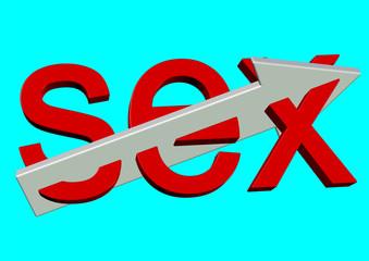 ikiye ayrılan kırmızı sex yazısı