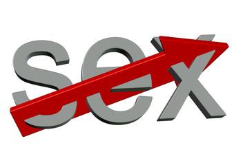 kırmızı okla ayrılan sex yazısı