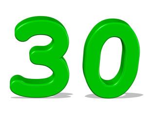 yeşil renkli 30 sayısı