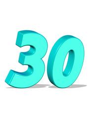 açık mavi renkli 30 sayısı