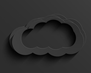 Vector modern dark cloud background. With place for text