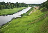 Musa river in Bauska. Latvia poster
