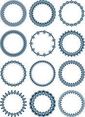Dozen of elegant round frames