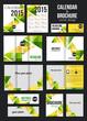 Zdjęcia na płótnie, fototapety, obrazy : Set of corporate business stationery templates and calendar