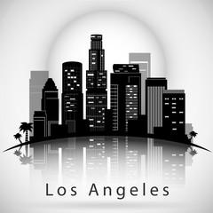 Los Angeles City Skyline. Typographic Design