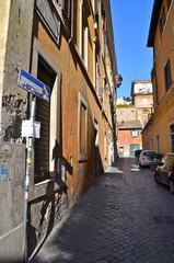 Colourful Alley near piazza di Spagna in Rome