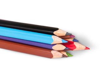 Closeup color pencils