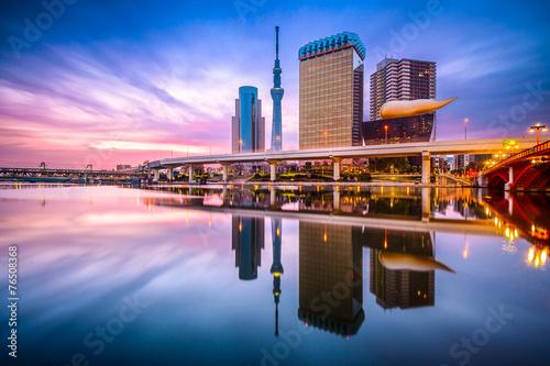 Fotobehang Tokyo Tokyo, Japan Skyline on the Sumida River