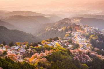 Yoshinoyama, Nara, Japan Hilltop village in Spring