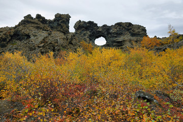 Dimmuborgir area in autumn