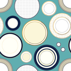 Seamless pattern with plates