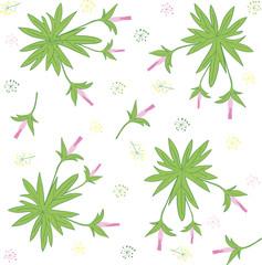 Seamless texture of forest geranium