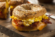 Hearty Breakfast Sandwich on a Bagel - 76509520