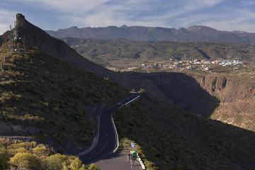 The road on  Tenerife island, Canary islands, Spain