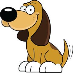 Cartoon Dog Happy
