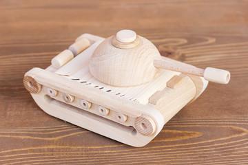 wooden model of tank