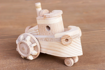 wooden model of boat