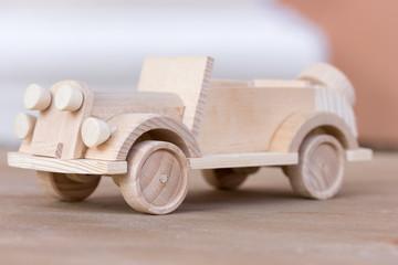 little wooden car model