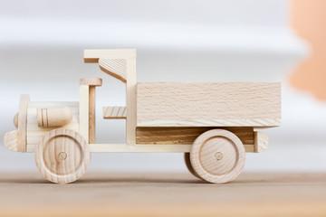 little wooden car model
