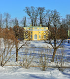 Winter  Upper Bathhouse   pavilion in Pushkin poster