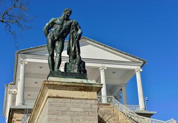 Hercules statue at the Cameron Gallery in Pushkin