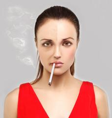 Effects of smoking.Bad habit