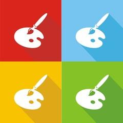 Iconos útiles artista colores sombra