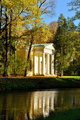 Autumn landscape with Pavilion  in Alexander's garden
