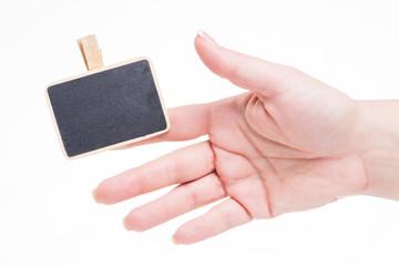 schild an finger