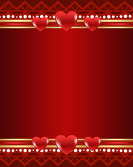 Red Valentine's background