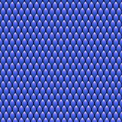 Blue Scales Seamless Pattern Texture. Stock Vector Illustration