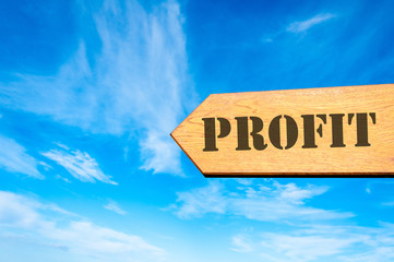 Arrow sign with Profit message