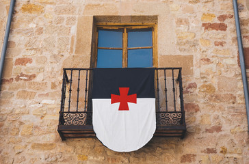 Banner on a balcony