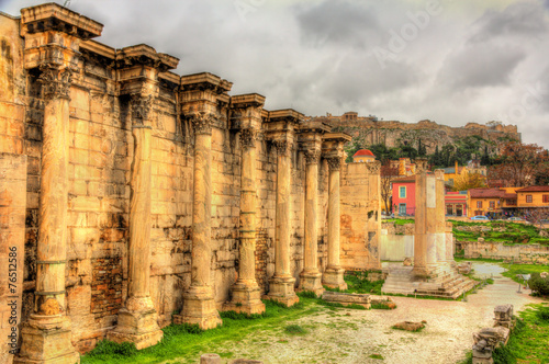 Walls of the Library of Hadrian in Athens - Greece
