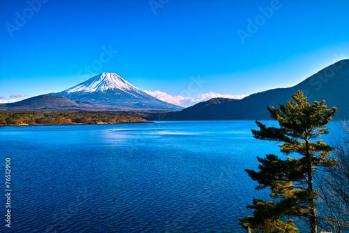 Foto op Plexiglas Japan 富士山と本栖湖