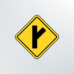 Side Road diagonal icon.