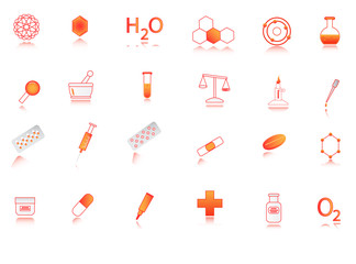 Illustration of chemistry icon