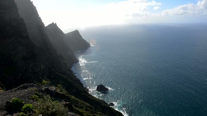 View of cliffs to the sea