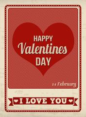 Happy Valentine's Day retro poster