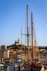 Yachts in Vieux Port of Marseille