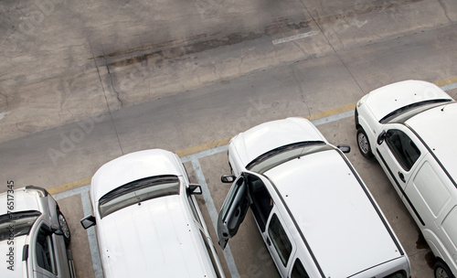 Leinwanddruck Bild Delivery Vans