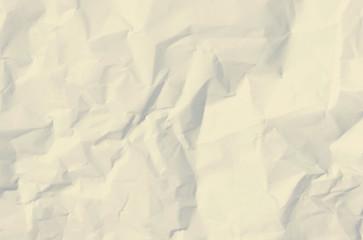 Wrinkled sheet of white paper