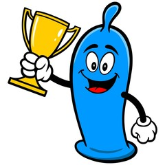 Condom with Trophy
