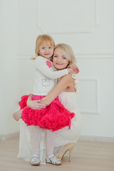 Mother and daughter at studio