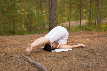 Yoga plough pose