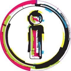 Colorful Grunge Font LETTER i