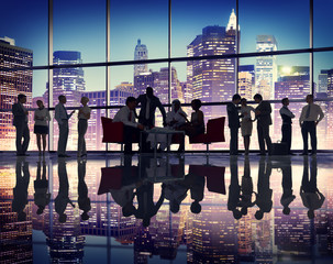 Business People Meeting Corporate Office Buildings Concept