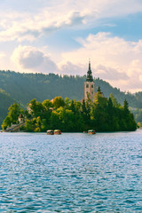 Bled with lake