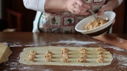 Preparing Agnolotti Pasta